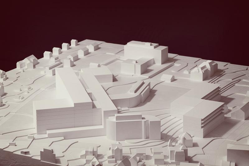 Krankenhauskomplex-Uster-Vogelperspektive-Modellbau